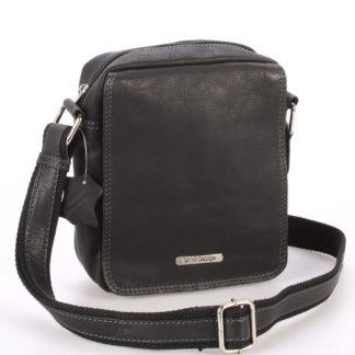 Menší černá pánská kožená taška - Sendi Design Merlin černá