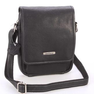Černá luxusní kožená pánská taška - Sendi Design Heliodoros černá