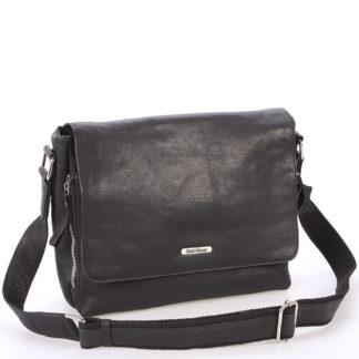 Černá luxusní velká kožená taška - Sendi Design Hermes černá