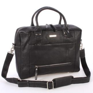 Černá luxusní a kvalitní kožená taška - Sendi Design Hero černá
