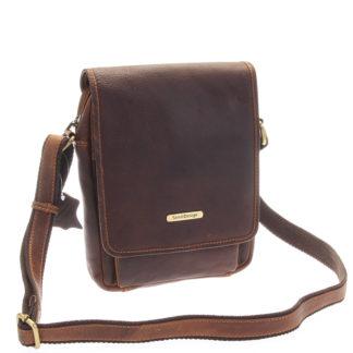 Hnědá luxusní kožená pánská taška - Sendi Design Heliodoros hnědá