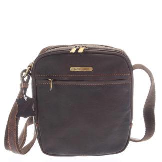 Hnědá pánská stylová kožená taška - Sendi Design Heracles hnědá