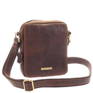 Menší hnědá pánská kožená taška - Sendi Design Merlin hnědá