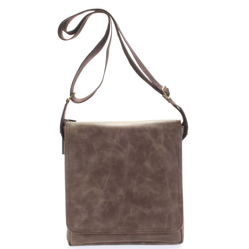 Světle hnědá elegantní crossbody kožená taška - Delami 1172 hnědá