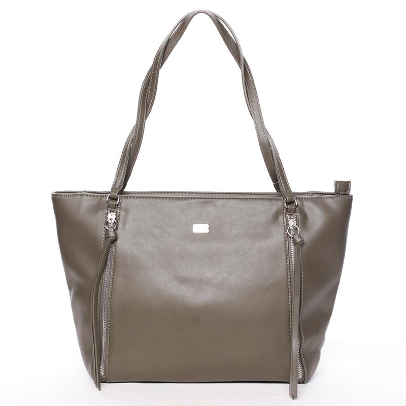 Elegantní khaki kabelka přes rameno - David Jones Paola Khaki