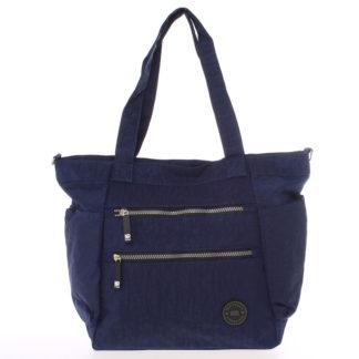 Moderní látková sportovní modrá taška - New Rebels Brielle modrá