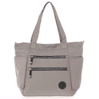 Moderní látková sportovní šedá taška - New Rebels Brielle šedá