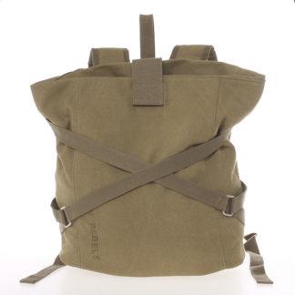 Unisex moderní látkový khaki batoh - New Rebels Kinley Khaki