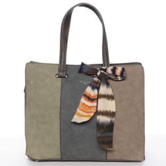 Elegantní khaki kabelka do ruky - David Jones Daphne Khaki