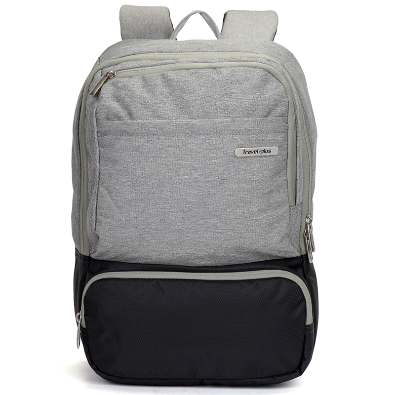 Módní cestovní šedý batoh - Travel plus 7506 šedá