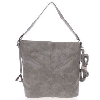 Středně velká dámská kabelka šedá - Just Dreamz Lilika šedá