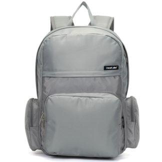 Školní a cestovní šedý batoh - Travel plus 0109 šedá