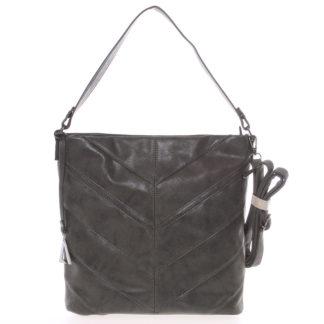 Středně velká dámská kabelka tmavě šedá - Just Dreamz Lilika šedá