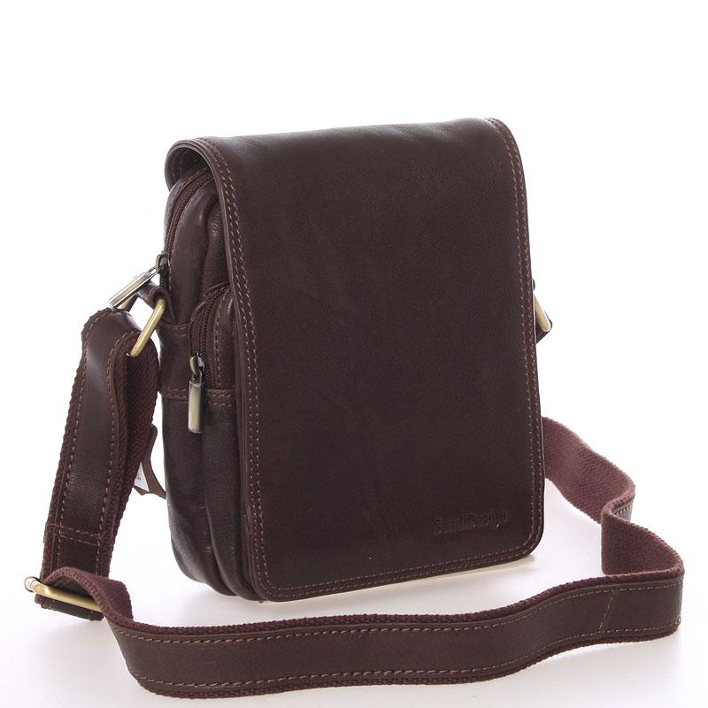 Pánská hnědá kožená taška přes rameno - SendiDesign Luxos hnědá