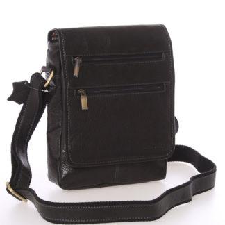 Módní pánská kožená taška přes rameno černá - SendiDesign Lycaon černá