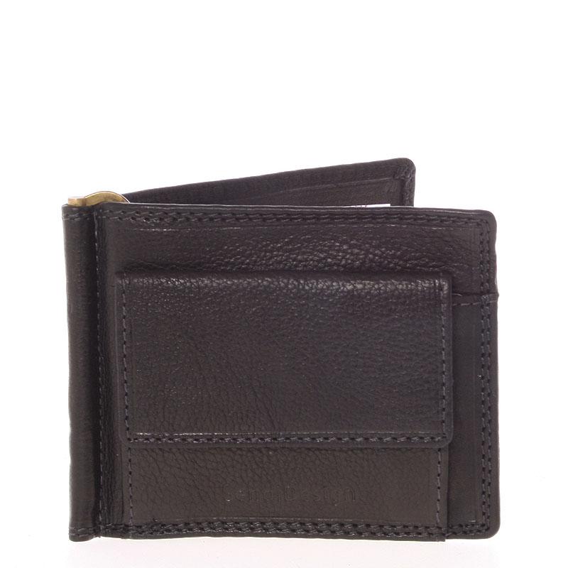 Pánská kožená dolarovka černá - SendiDesign Ctex černá