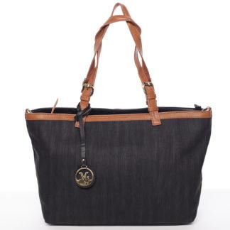 Módní dámská kabelka přes rameno černá - MARIA C Itzel černá