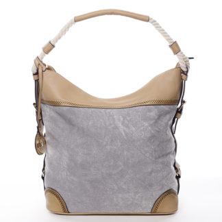 Velká atraktivní kabelka přes rameno šedá - MARIA C Mimis šedá