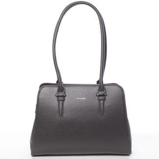 Elegantní dámská tmavě šedá kabelka přes rameno - David Jones Jade šedá