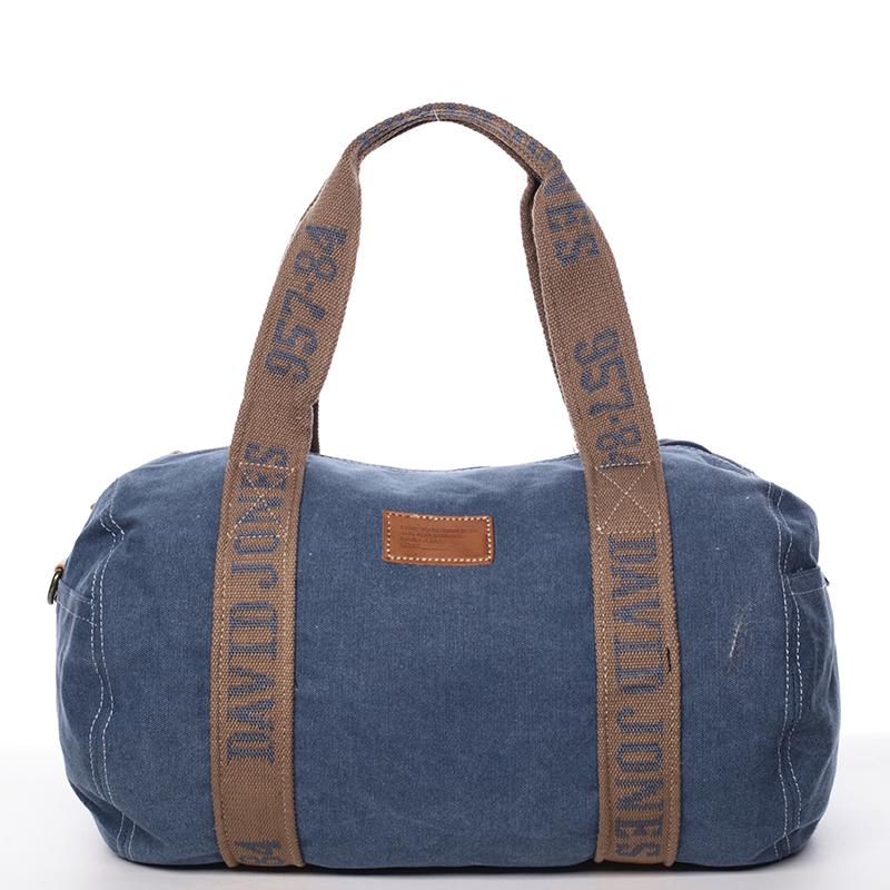 Dámská látková modrá kabelka přes rameno - David Jones Molly modrá