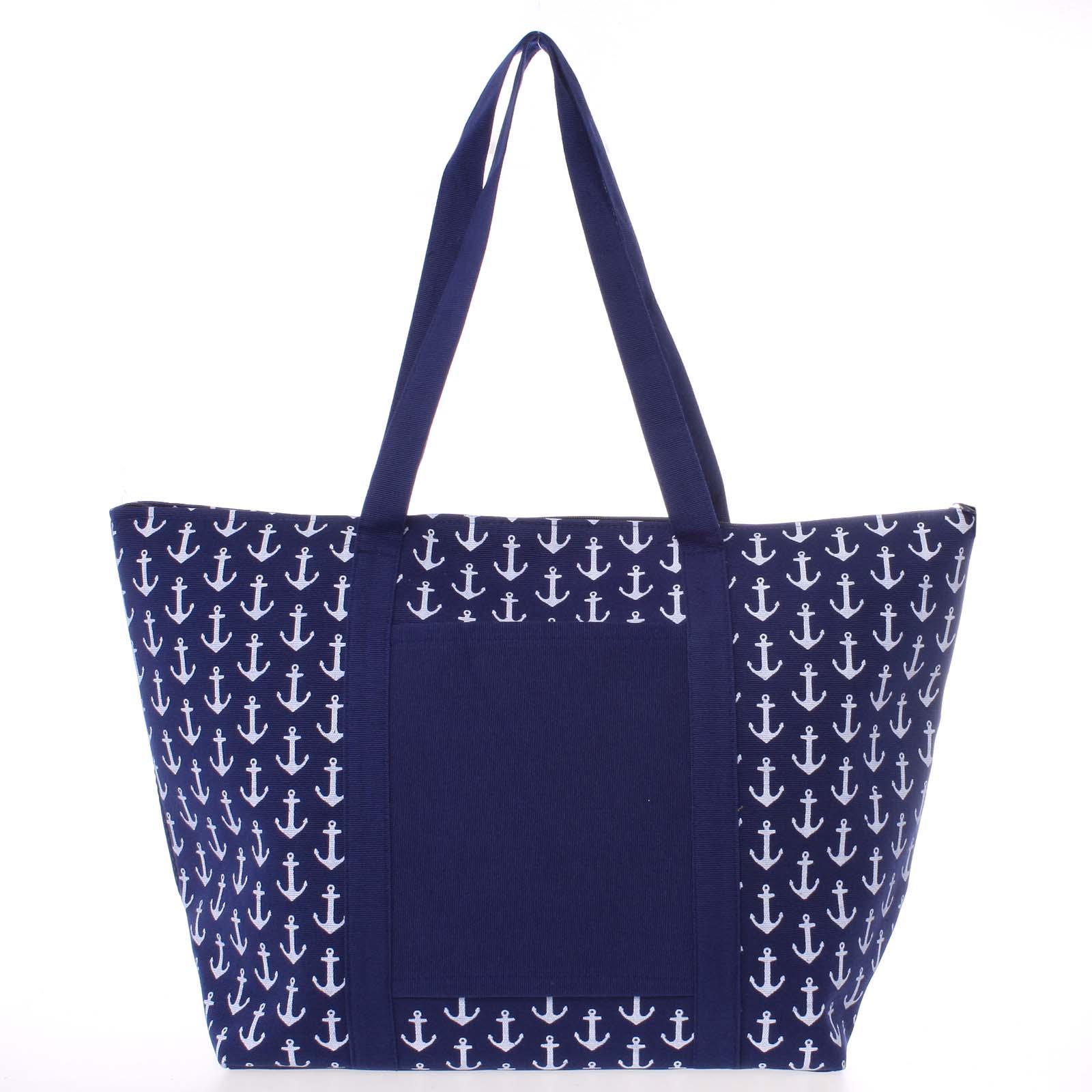 Luxusní modrá plážová taška - Delami Spirance modrá
