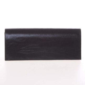 Decentní saténové psaníčko černé - Delami P355 černá