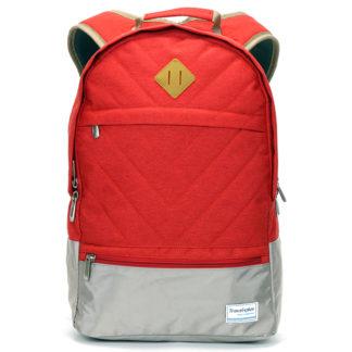 Moderní červený školní a cestovní batoh - Travel plus 0617 červená