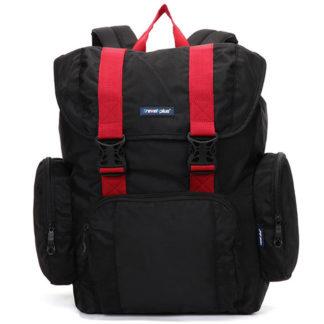 Velký černo červený cestovní batoh - Travel plus 7503 černá