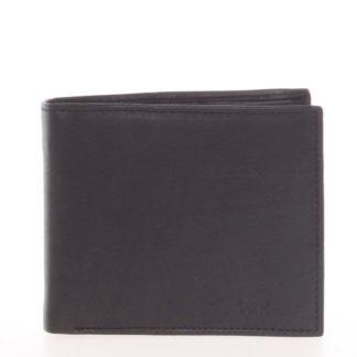 Pánská kožená volná černá peněženka - Delami 8222 černá