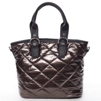 Jedinečná elegantní dámská kabelka bronzová - MARIA C Briley hnědá