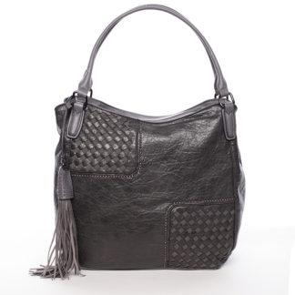 Trendy dámská měkká kabelka šedá - MARIA C Kadence šedá