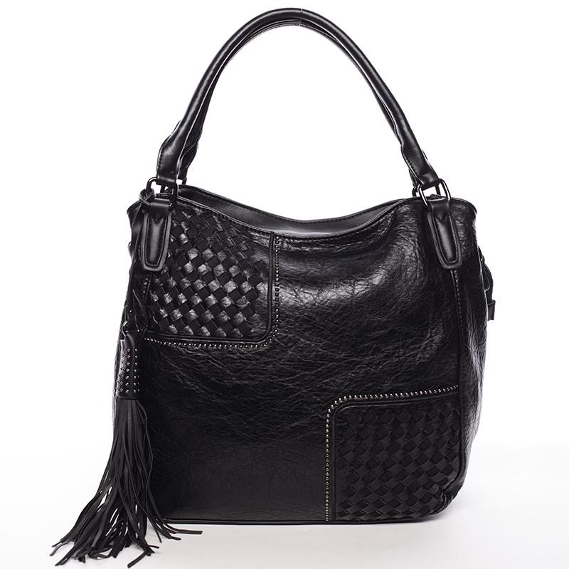Trendy dámská měkká kabelka černá - MARIA C Kadence černá