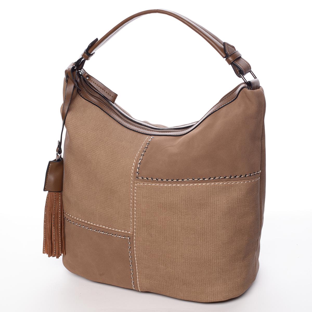 Moderní dámská kabelka světle hnědá - MARIA C Aliza hnědá