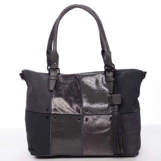 Jedinečná větší dámská kabelka šedá - MARIA C Riley šedá
