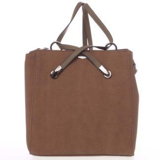 Elegantní strukturovaný hnědý batůžek/kabelka - Hexagona Bure hnědá
