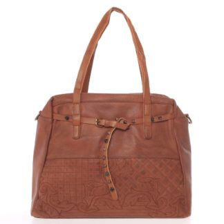 Jedinečná dámská kabelka hnědá - MARIA C Jocelynn hnědá