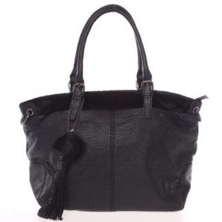 Módní měkká dámská kabelka černá - MARIA C Paige černá