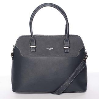 Jemná dámská kabelka do ruky pávově modrá - David Jones Petra modrá