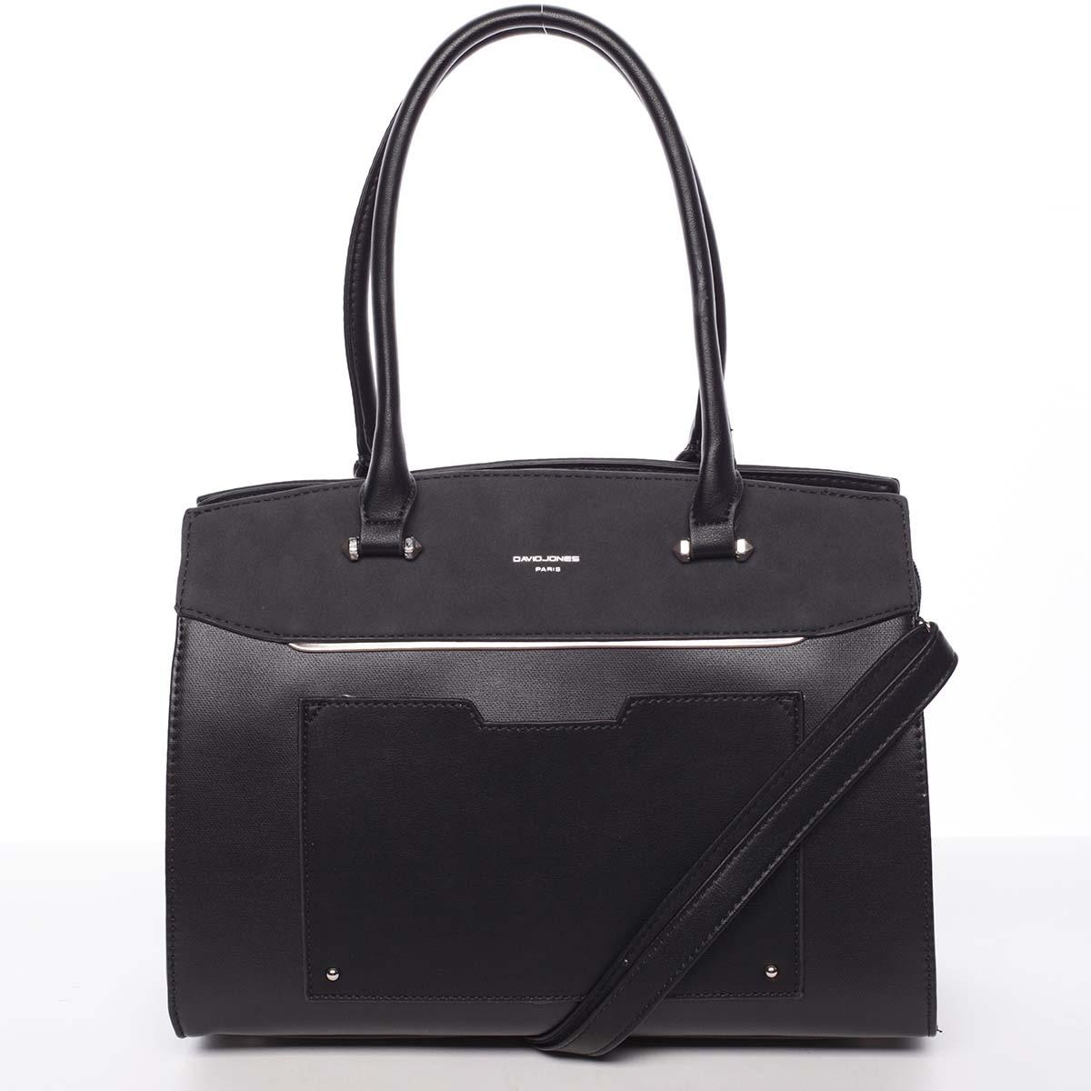 Jedinečná dámská černá kabelka - David Jones Hazel černá