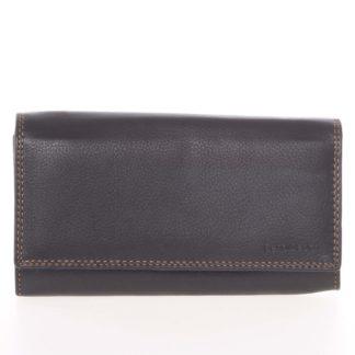 Dámská černá kožená prošívaná peněženka - SendiDesign Philyra černá