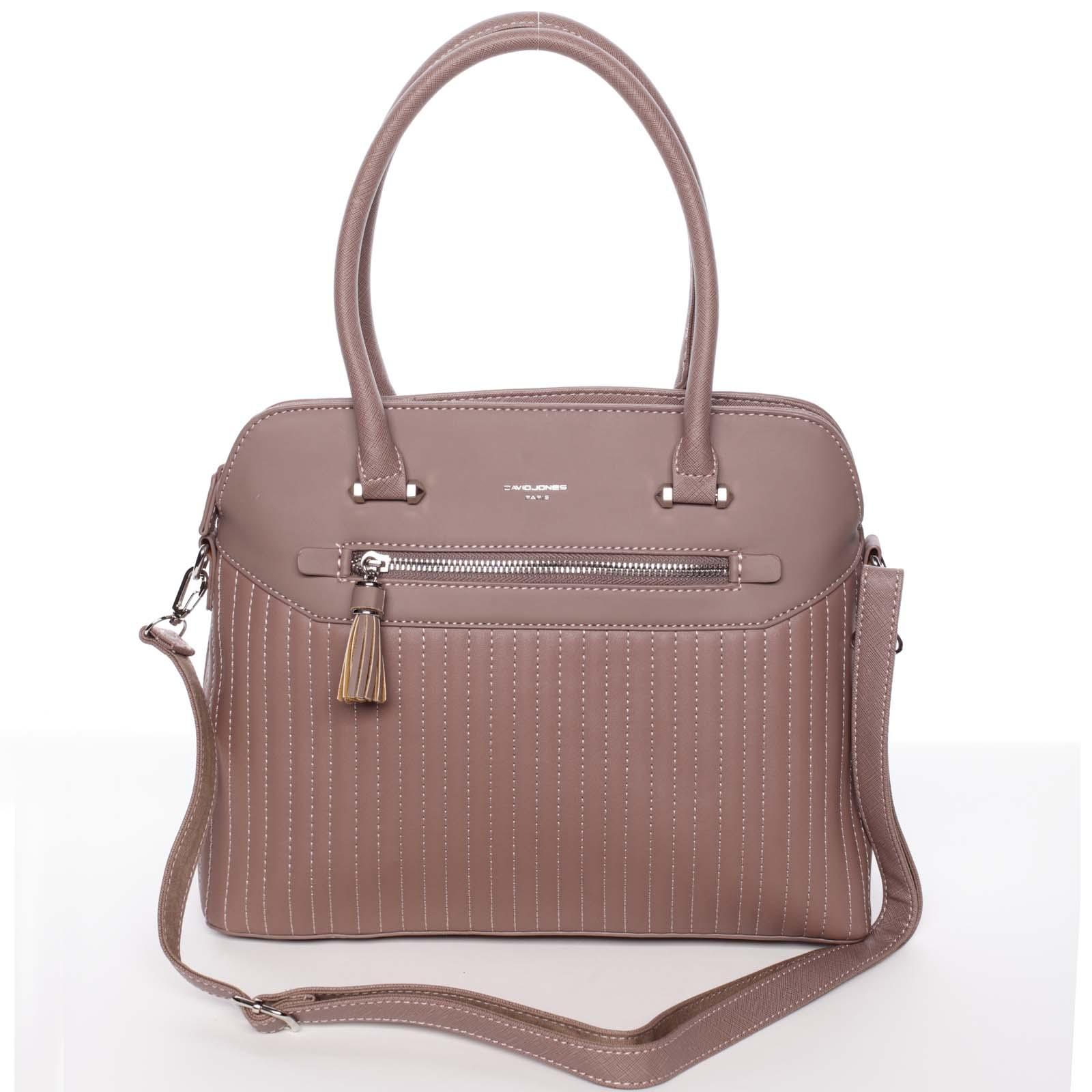 Jedinečná tmavě růžová kabelka do ruky - David Jones Nadia růžová