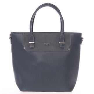 Elegantní švestkově modrá menší kabelka do ruky - David Jones Talia modrá