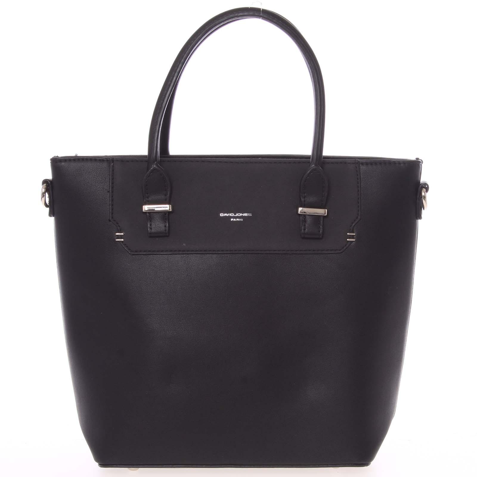 Elegantní černá menší kabelka do ruky - David Jones Talia černá
