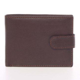 Pánská hnědá kožená peněženka se zápinkou - SendiDesign Prejem hnědá