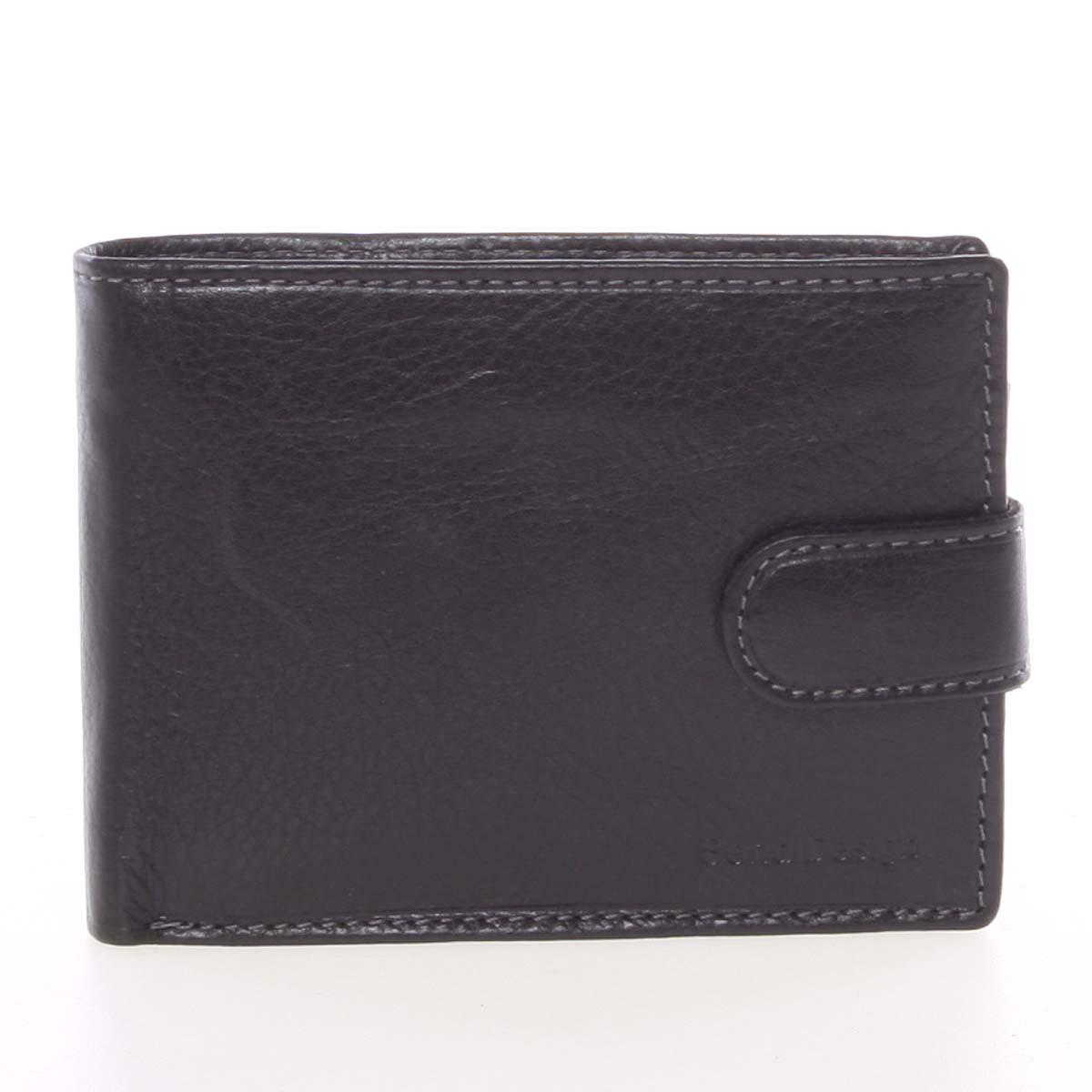 Pánská černá kožená peněženka se zápinkou - SendiDesign Prejem černá