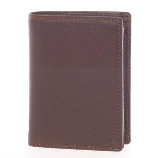 Volná pánská kožená peněženka hnědá - SendiDesign Priam hnědá