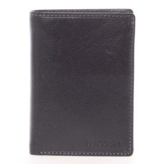 Volná pánská kožená peněženka černá - SendiDesign Priam černá