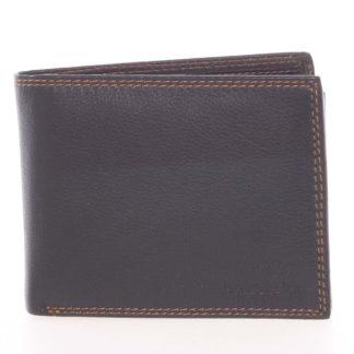 Kvalitní pánská kožená černá volná peněženka - SendiDesign Sabastian černá