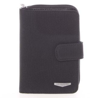 Originální dámská dvoudílná černá peněženka - HEXAGONA Reezzi černá