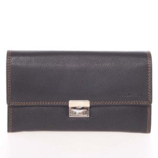 Luxusní velká kožená prošívaná kasírtaška černá - SendiDesign Basilea černá